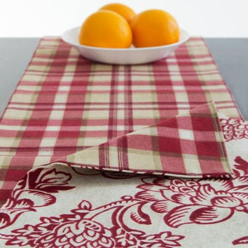 Christmas Red Table Runner Holiday Table Runner Christmas Table Runner 60 inch, 72 inch, 90 inch, 96 inch, 108 inch, 120 inch long size