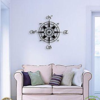 Wall Sticker Compass Marine Ocean Great Decor For Living Room  Unique Gift z1506