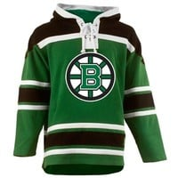 Old Time Hockey Boston Bruins St. Patrick's Day McNary Lace Hoodie - Kelly Green