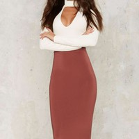 Survival of the Fittest Midi Bodycon Skirt