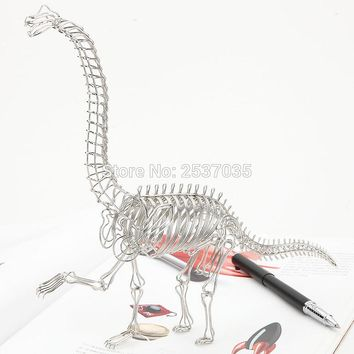 FREE SHIPMENT J5 DINOSAUR MODEL/SCULPTURE/DECORATION STAINLESS HAND-MADE ART CRAFTS WEDDING&BIRTHDAY&HOME&OFFICE&GIFT&PRESENT