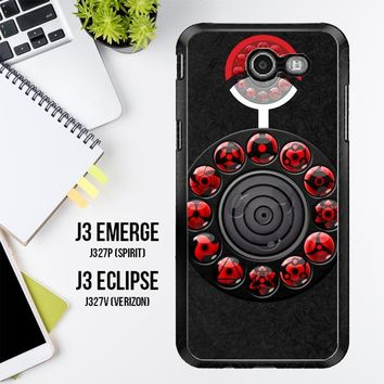 Sharingan Circle And Rinnegan Z2159 Samsung Galaxy J3 Emerge, J3 Eclipse , Amp Prime 2, Express Prime 2 2017 SM J327 Case