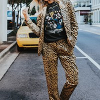 SCOTCH & SODA | Leopard Velvet Chino Pant