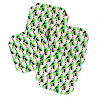 CayenaBlanca Patterned Christmas Tree Coaster Set