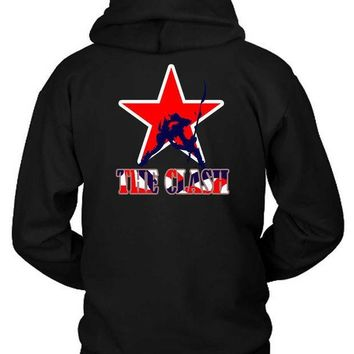 CREYH9S The Clash London Calling Star Logo Hoodie Two Sided
