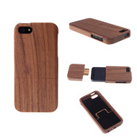 Light Weight Walnut Wood Phone Case for iPhone 5 5S Natural Hard Back Cover Protective Shell