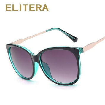 ELITERA 2017 Luxury Women Sunglasses Fashion Round Ladies Vintage Retro Brand Designer Oversized Female Sport Sun Glasses Tide