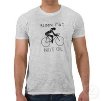 Burn fat not oil T-shirt / Earth Day T-shirt from Zazzle.com
