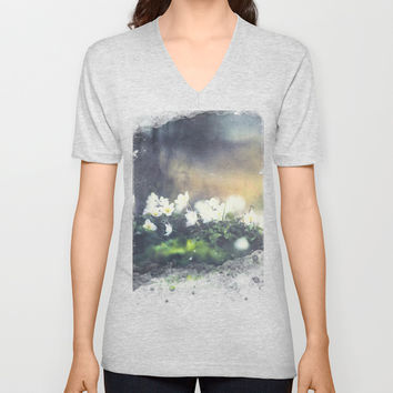 Rugged beauty Unisex V-Neck by HappyMelvin