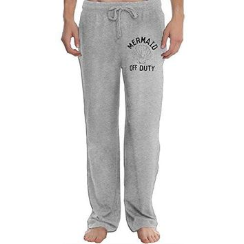 Men Mermaid Off Duty Shell Leisure Graphic Sweat Jogging Pants