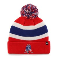 Mens New England Patriots '47 Brand Red Breakaway Cuffed Beanie