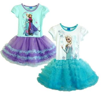 Girls Kids Princess Queen  Cake Tulle Tutu Dress SZ2-7Y Clothing