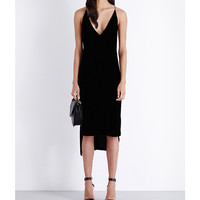 DION LEE Crossover-back velvet dress