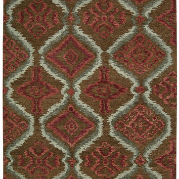 Nourison Tahoe Modern Brown Red Area Rug MTA06 BRNRD (Rectangle)