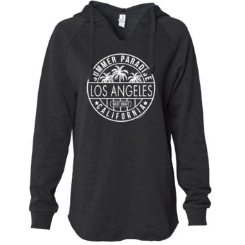 Los Angeles California West Coast Women's Soft Hooded Pullover