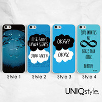 The Fault in Our Stars phone case - John Green phone case for iPhone 4/4s 5/5s 5c, samsung s5, htc one m7 m8 2014, htc one max - L74