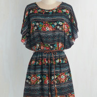 Boho Mid-length Short Sleeves A-line Altogether Entrancing Dress