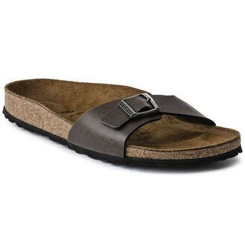 Sale Birkenstock Madrid Birko Flor Pull Up Brown 1003170 Sandals