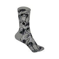 Pop Splatter Crew Socks in Sweatshirt Gray