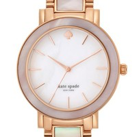 Women's kate spade new york 'gramercy grand' mother-of-pearl bracelet watch, 38mm