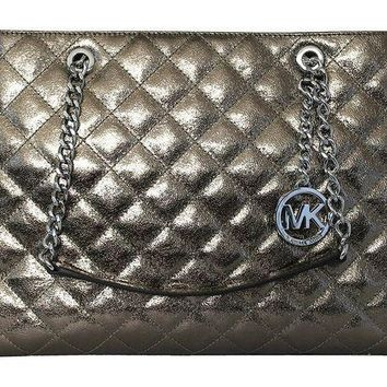 DCCKUG3 MICHAEL Michael Kors Susannah Womens Large Quilted Leather Handbag TOTE