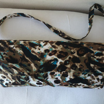 "clutch in satin, jungle design, Glamour and style,  bag ""Margaux"""
