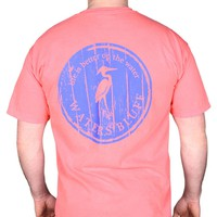 Wood Grain Tee Shirt in Crunchberry Red by Waters Bluff