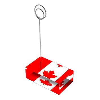 Canadian Flag of Canada Red Maple Leaf Card Holder Table Card Holder
