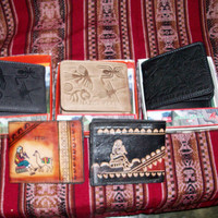 Peruvian Design Leather Wallets