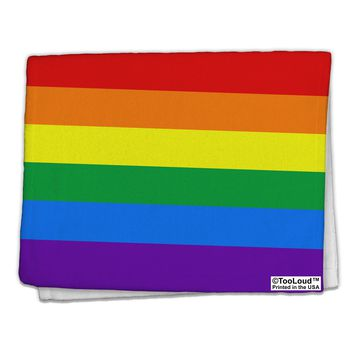 "Rainbow Horizontal Gay Pride Flag 11""x18"" Dish Fingertip Towel All Over Print by TooLoud"