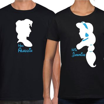 Jasmine Aladdin Inspired Matching Couples Shirts