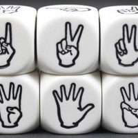Sign Language Dice One Through Six
