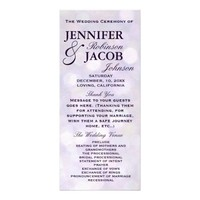 Lavender Bokeh Highlights Wedding Program