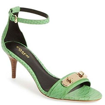 Coach Woman's Marcella Kitten Heel Sandal Green