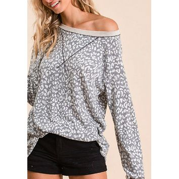 Blends Well With Others Top - Grey