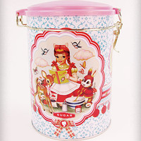 Cotton Candy Sugar Tin Canister   PLASTICLAND