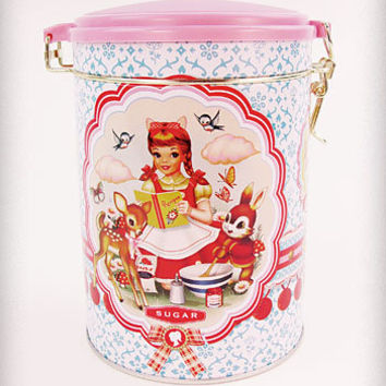Cotton Candy Sugar Tin Canister | PLASTICLAND
