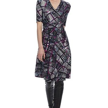 Women's Donna Morgan Print Jersey Fit & Flare Dress,