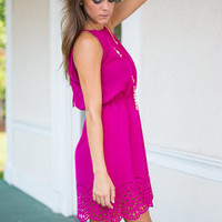 Romantic Reality Dress, Fuchsia