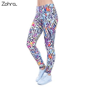 Zohra Wild Dots Print Leggings