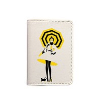 Fashion Girl Passport Holder - Leather Passport Cover - Travel Accessory- Travel Wallet for Women and Men_LOKISHOP