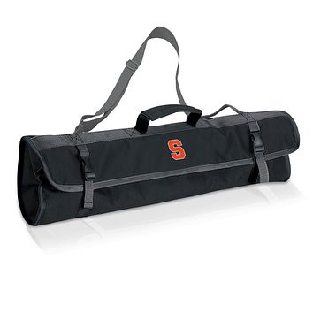 Syracuse Orange 3-Pc BBQ Tote & Tools Set-Black Digital Print