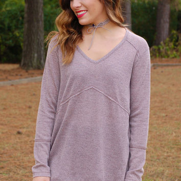 Stay By The Fire Top-Taupe