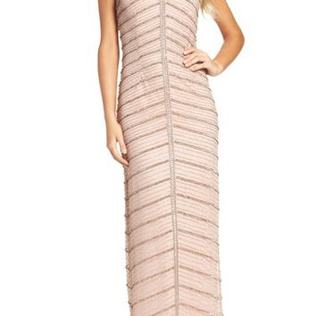 Adrianna Papell Beaded Column Gown   Nordstrom