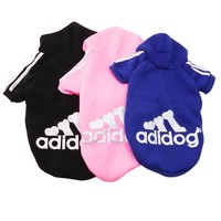 Comfortable Winter Casual Adidog Pet Dog Clothes Warm Hoodie Coat Jacket Clothing Leisure