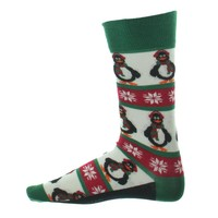 Alfani Mens Penguin Lightweight Holiday Print Crew Socks