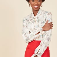 Positive Professionalism Button-Up Top in Dino