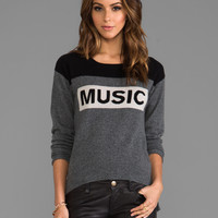 291 Cashmere Music Uneven Hem Sweater in Derby Grey