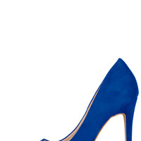 Trina Suede Pump (Blue)