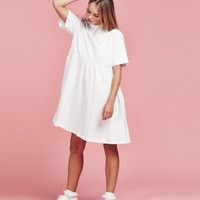 Lazy Oaf White Simple Dress - Clothing - NEW IN - Womens